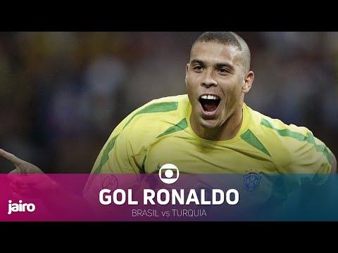 Gol de Ronaldo: Brasil vs Turquia   Semifinal Copa 2002