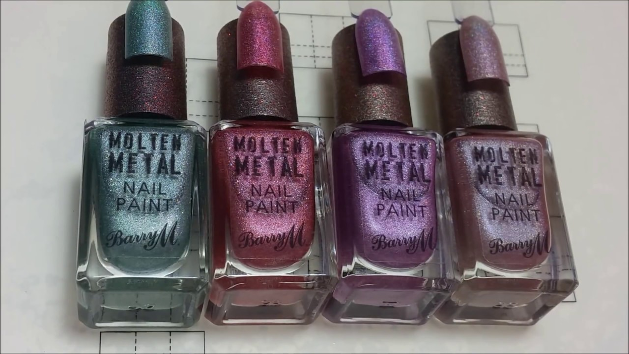 BarryM Molten Metal Holographic 2018 Nail Polish Collection
