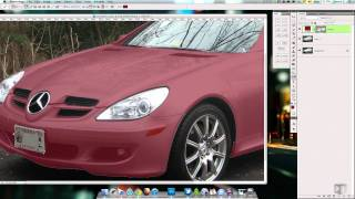 Changing the Color of a Car in Photoshop