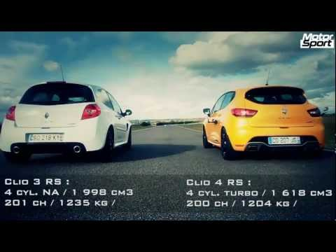 Drag race : Renault Clio 4 RS VS Clio 3 RS Cup (Motorsport)