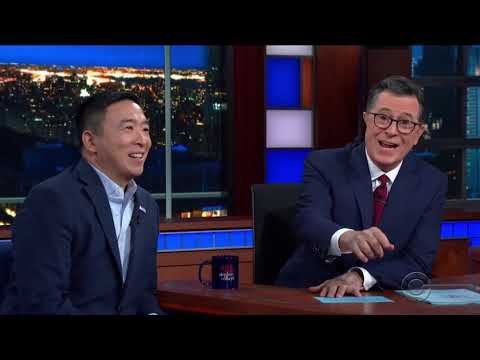 Andrew Yang's Full Interview on the Late Show with Stephen Colbert
