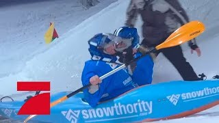 Miriam Höller & Joey Kelly (Flucht vor Rot) | Die ProSieben Wintergames 2018 | ProSieben