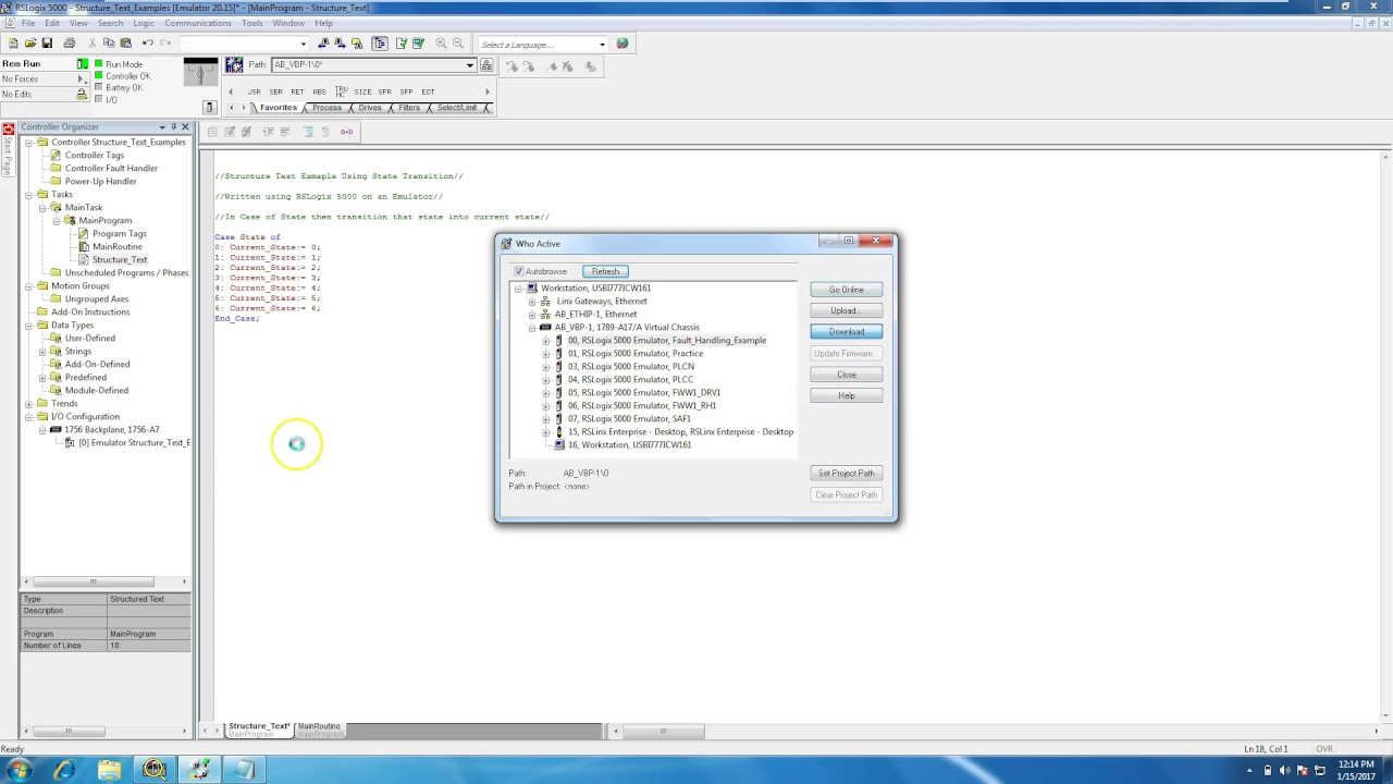 Structured Text in RSLogix 5000 | Online PLC Support