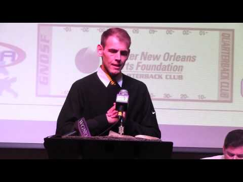 LSU Director of Player Personnel Austin Thomas at GNOSF QB Club Oct 6, 2015