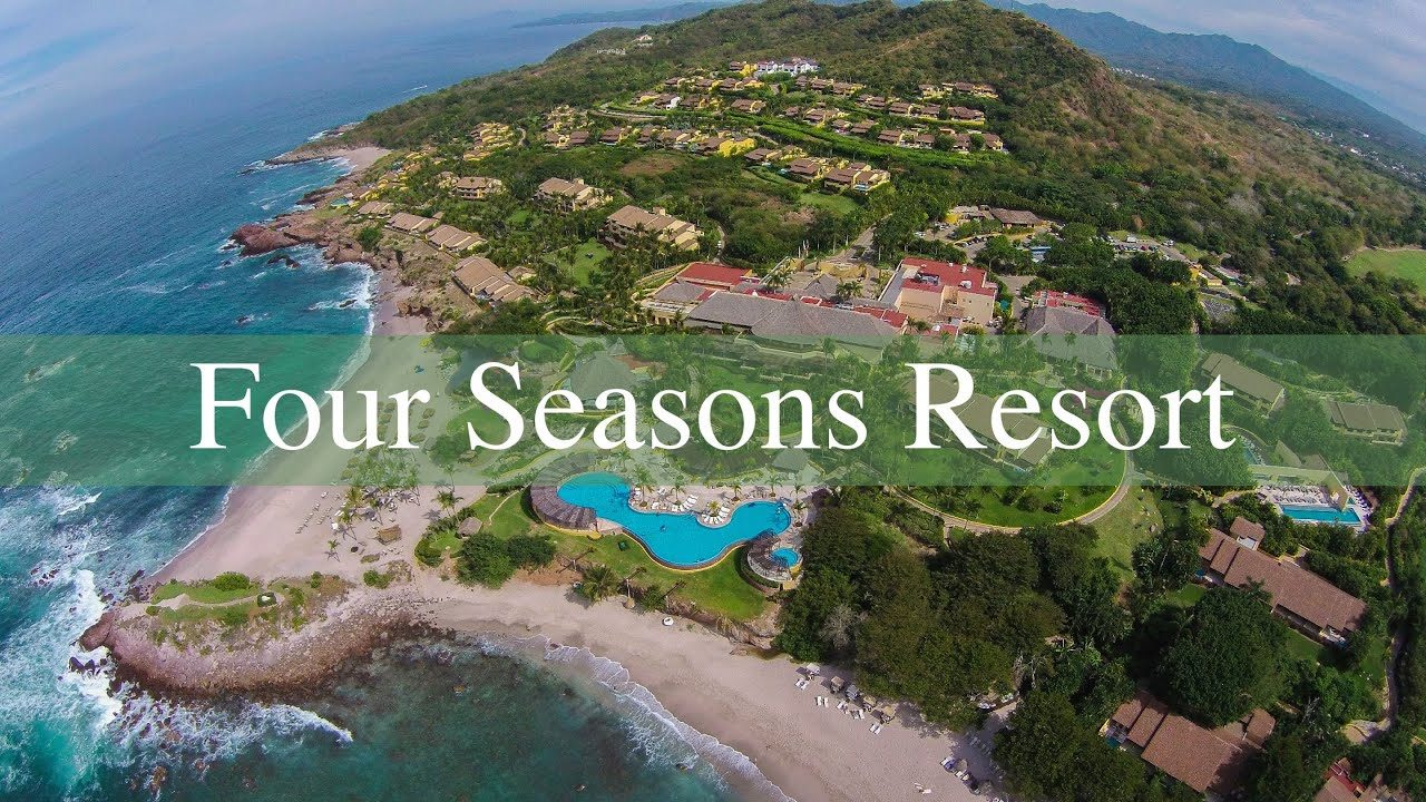 four seasons resort in punta mita nayarit mexico aerial views youtube