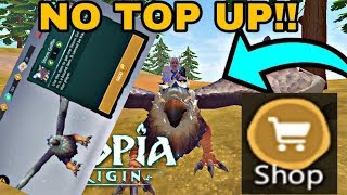 HOW TO BUY ITEMS FROM THE SHOP WITHOUT TOPING UP || UTOPIA ORIGINS