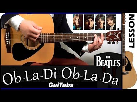 how to play ob-la-di ob-la-da  - the beatles / guitabs guitar tutorial
