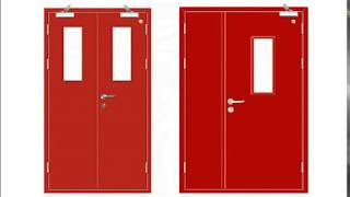 fire rated steel door fireproof door fire resistant metal door fire retardant iron door