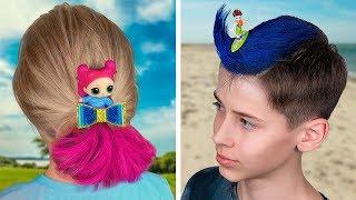 10 أفكار تسريحات شعر لطاف للأطفال