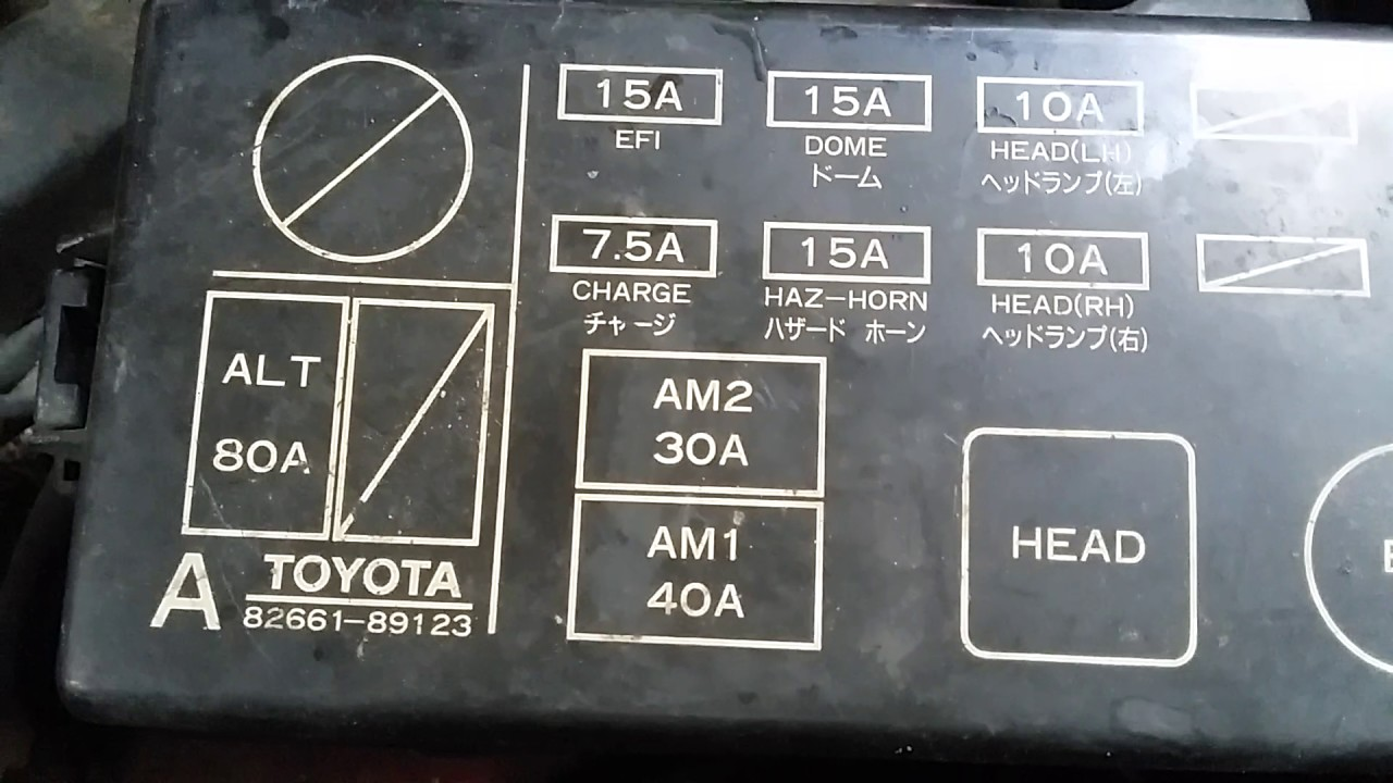 1994 Toyota Pickup Fuse Box Diagram Honda Pilot Engine 1989 Truck Blower Motor Location - Youtube