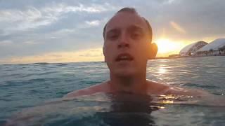 Плаваю в Черном море, неприятный случай на пляже Сочи Парк отеля