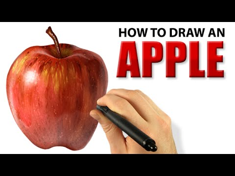 Digital Painting - How To Draw An Apple [Draw This #12]