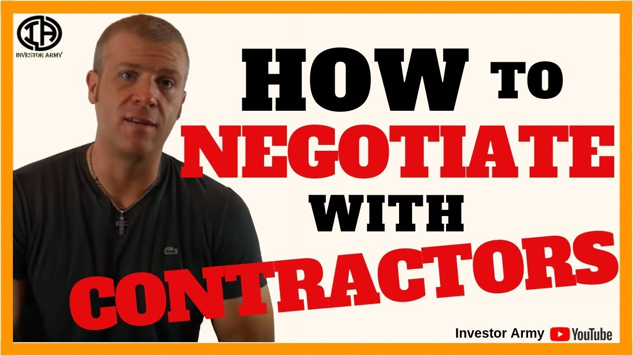 How To Negotiate With Contractors