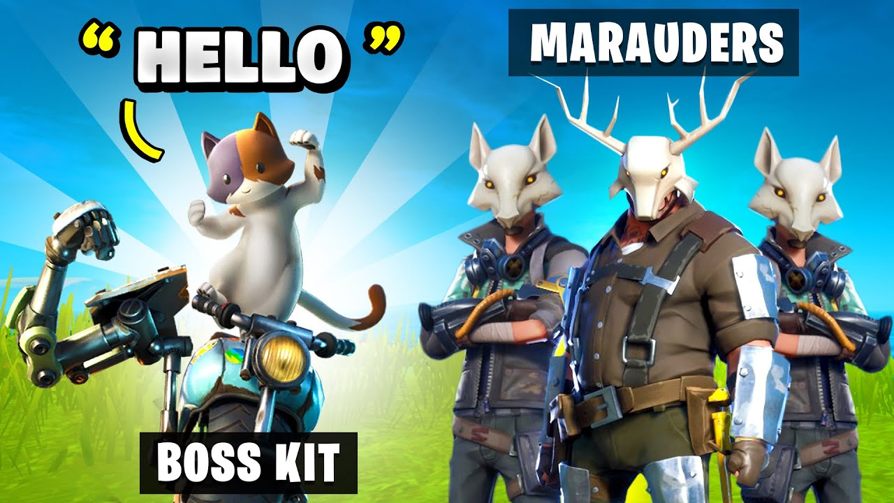 What Happens when Fortnite Bosses Meet Marauders in Fortnite (Boss Kit Meets Marauder)