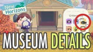 Animal Crossing New Horizons MUSEUM DETAILS (+ Fish & Bug ENCYCLOPAEDIA App)