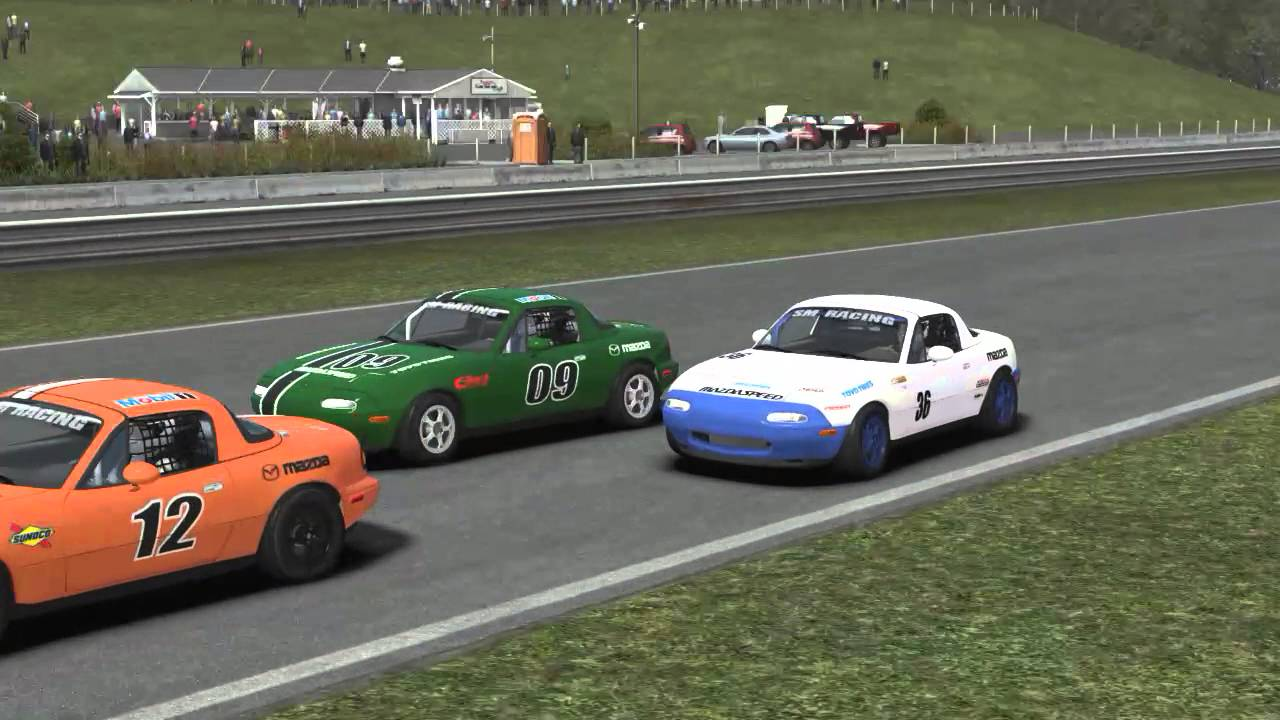 rFactor 2 Spec Miata race at Lime Rock  Powered by GeForce GTX