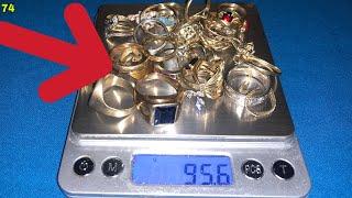 Destruyendo anillos de oro para hacer un lingote y comprarme un nuevo detector de metales