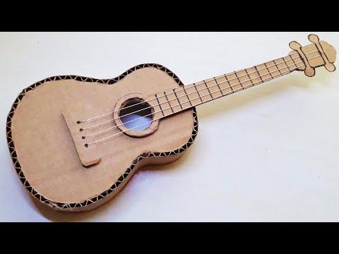 KARTONDAN GİTAR YAPIMI - ( How to make a guitar from cardboard? )