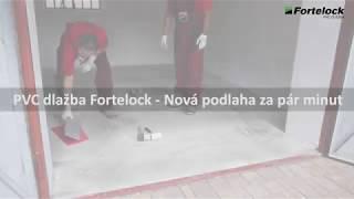 PVC dlažba Fortelock - Rekonstrukce podlahy v garáži