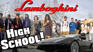 Download Driving My Lamborghini To High School At 17! Funny Supercar Reactions!! Mp3 and Videos