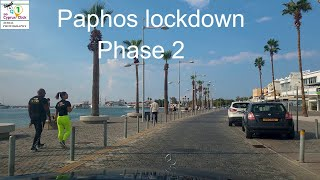 Paphos Cyprus Lockdown phase 2 Nov 14 2020 4k UHD