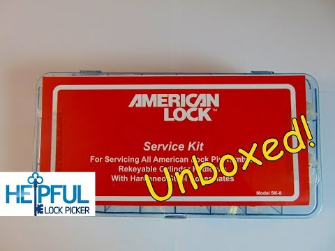 [142] American Lock Service Kit Unboxing With Full American Lock Disassembly