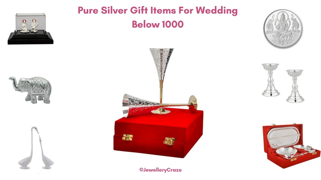 Pure Silver Gift Items For Wedding Below 1000 Youtube