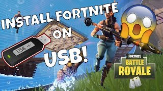 Installing Fortnite to a USB or portable Hard Drive [2018]