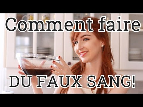 comment faire du faux sang recette maison facile youtube. Black Bedroom Furniture Sets. Home Design Ideas