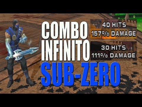 Mortal Kombat Armageddon -  SUB-ZERO (COMBO INFINITO) PS2