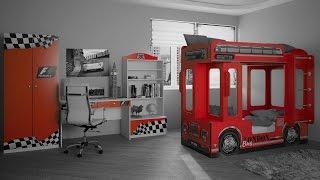 видео Кровать автобус двухъярусная: фото в интерьере