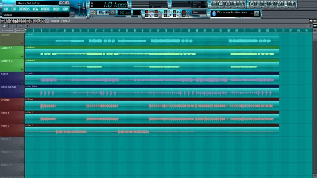 korn get up official instrumental free stem files youtube