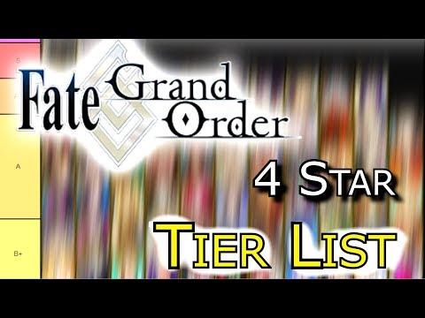 FGO Tier List 4 Stars  [Fate/Grand Order]