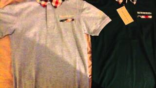 Burberry Brit London Mens Polo 2 T-shirts for sale