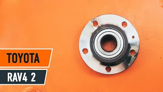 Replacing Wheel Bearing yourself video instruction on TOYOTA RAV4