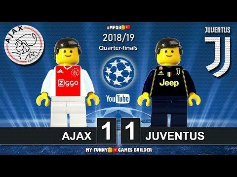 Ajax vs Juventus 1-1 • Champions League 2019 (10/04/2019) All Goals Highlights Lego Football