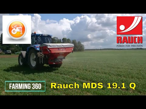 New Holland T7.235 in action with Rauch MDS 19.1 Q and section control