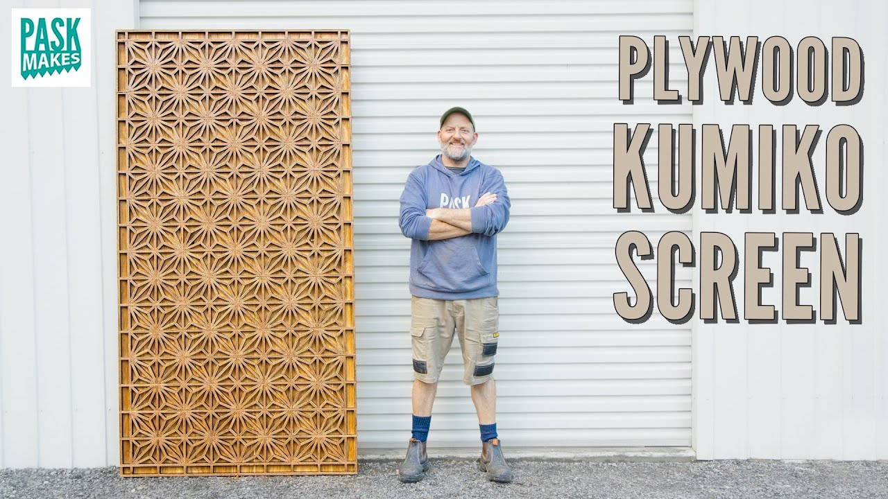 How to make a Kumiko Screen from Plywood
