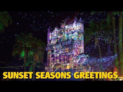 Sunset Seasons Greetings 2018 | Walt Disney World