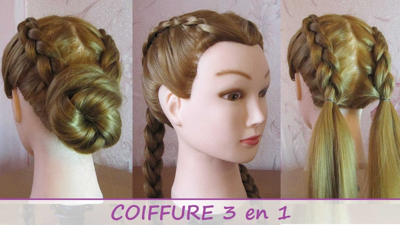 tuto tresses coll es coiffure 3 en 1 facile faire tumblr hairstyles youtube. Black Bedroom Furniture Sets. Home Design Ideas