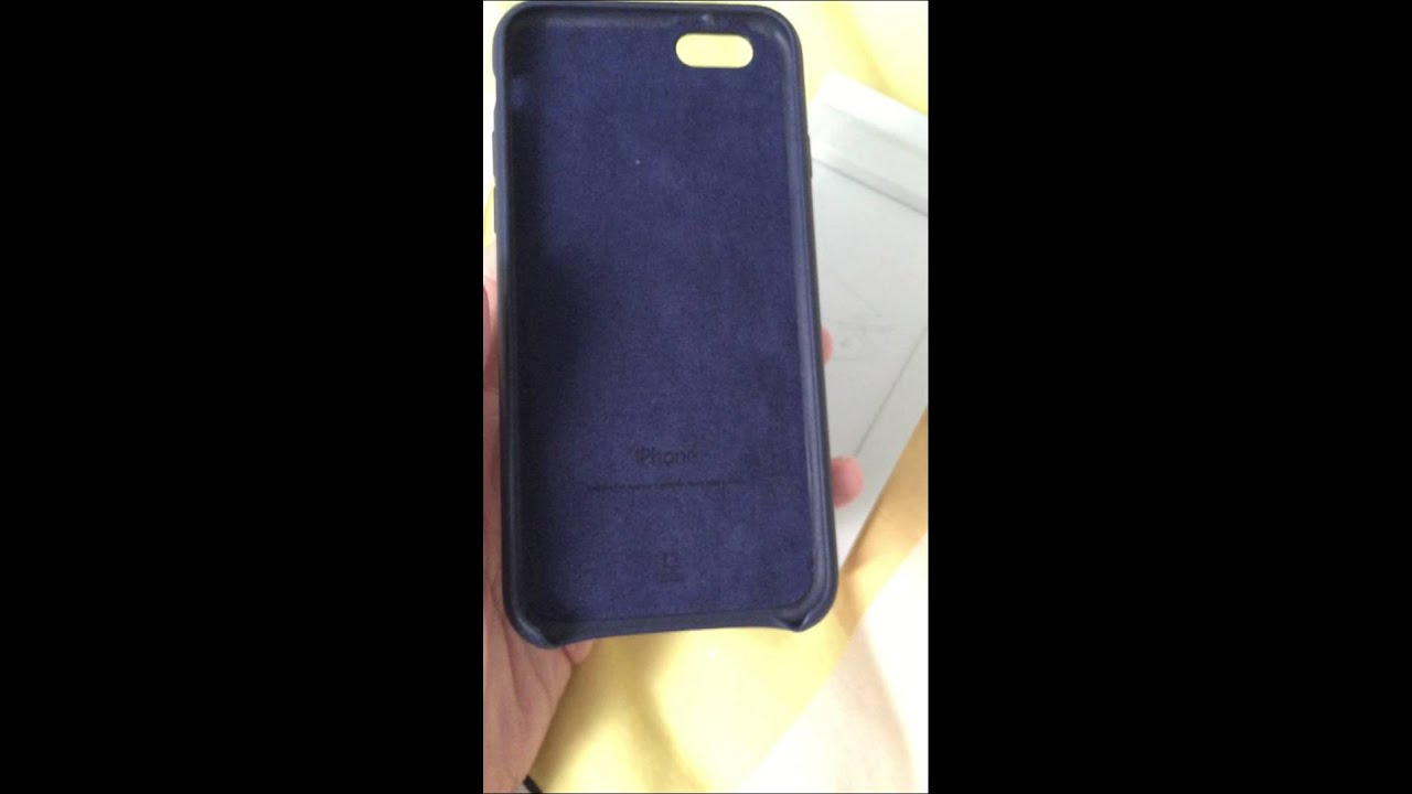 iPhone 6 leather case / midnight blue