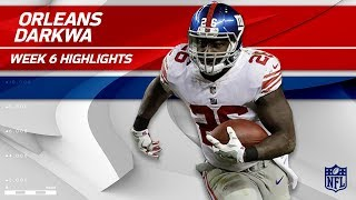 Orleans Darkwa's Strong Sunday Night w/ 117 Yards! | Giants vs. Broncos | Wk 6 Player Highlights