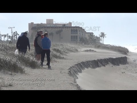Siesta Key, FL Extreme winds causing major beach and sand erosion  1232016