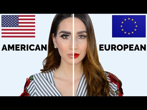 American VS European Makeup Tutorial