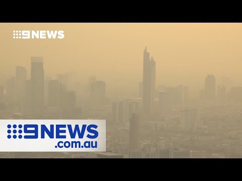 Dangerous levels of air pollution in Bangkok | Nine News Aus