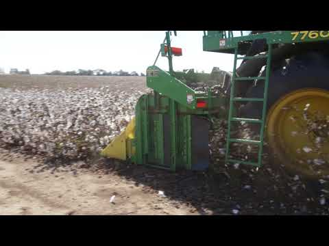 McKee Planting Company 2 on round module cotton harvester 6172