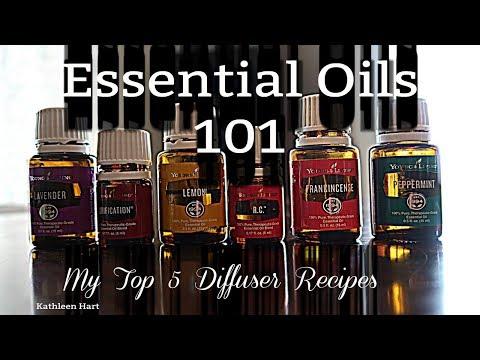 essential-oils-101-|-popular-diffuser-blends-|-top-5-diffuser-recipes