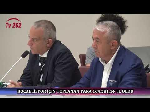 TV 262 - KOCAELİSPOR İÇİN TOPLANAN PARA 164.281,14 TL OLDU   TV 262