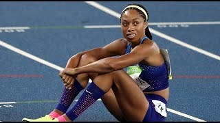 Allyson Felix Reacts To Getting Silver & Shaunae Miller's Dive | Access Hollywood