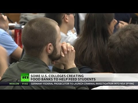 Hungry college students turning to food pantries for help